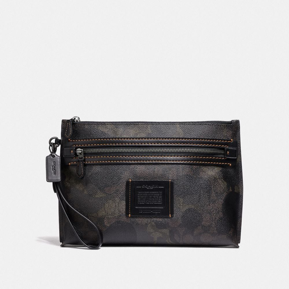 ACADEMY POUCH IN SIGNATURE CANVAS WITH WILD BEAST PRINT