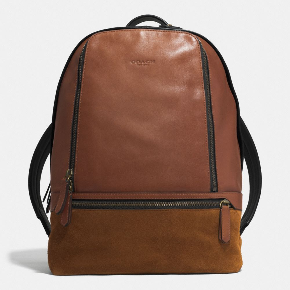 BLEECKER TRAVELER BACKPACK IN MIXED LEATHER