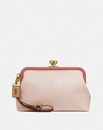 KISSLOCK CLUTCH IN COLORBLOCK
