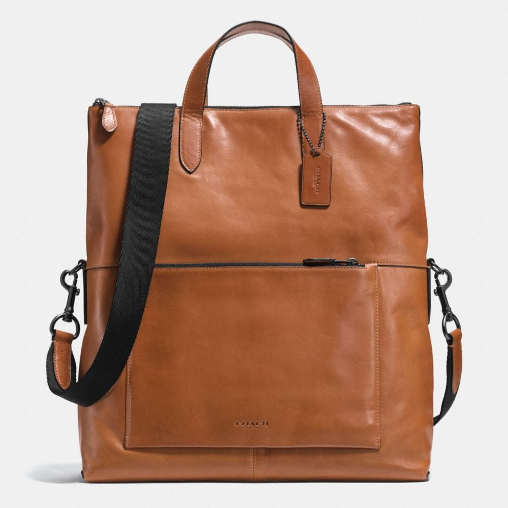 MANHATTAN FOLDOVER TOTE IN SPORT CALF LEATHER