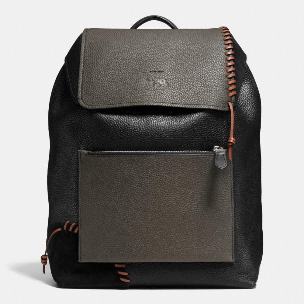 COACH X DETAILS RIP AND REPAIR MANHATTAN BACKPACK IN LEATHER