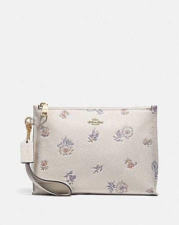 CHARLIE POUCH WITH MEADOW PRAIRIE PRINT