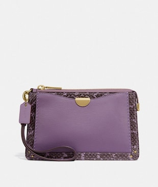 DREAMER WRISTLET WITH SNAKESKIN DETAIL