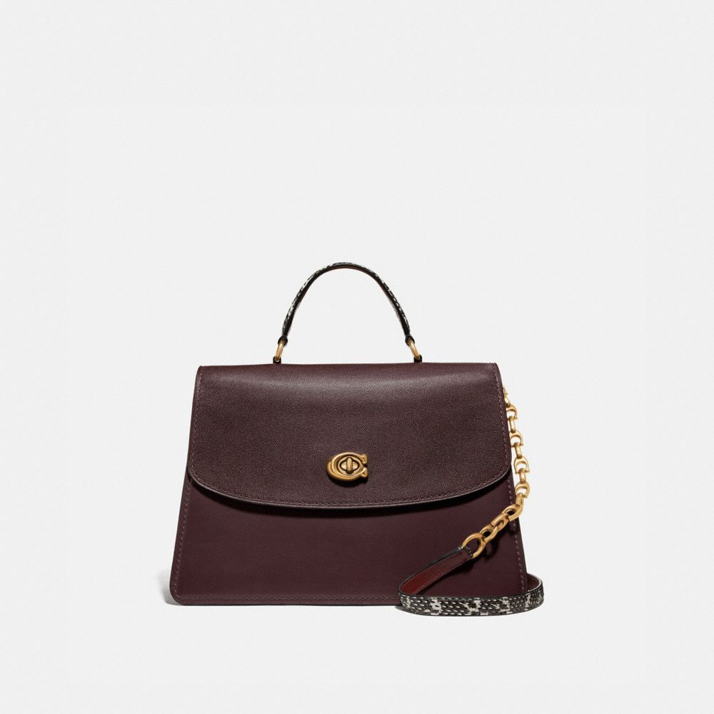 SAC PARKER TOP HANDLE 32 COLOR BLOCK AVEC DÉTAILS PEAU DE SERPENT