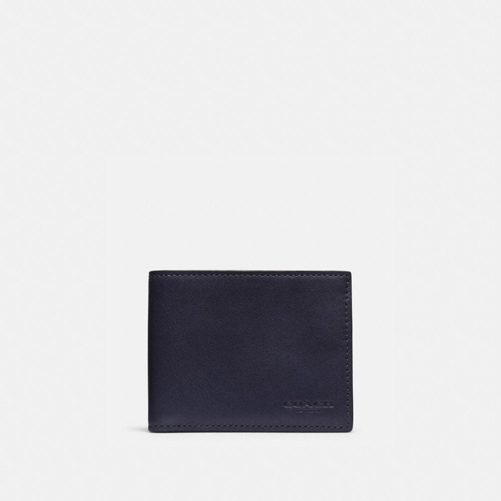 SLIM BILLFOLD ID WALLET IN SPORT CALF LEATHER