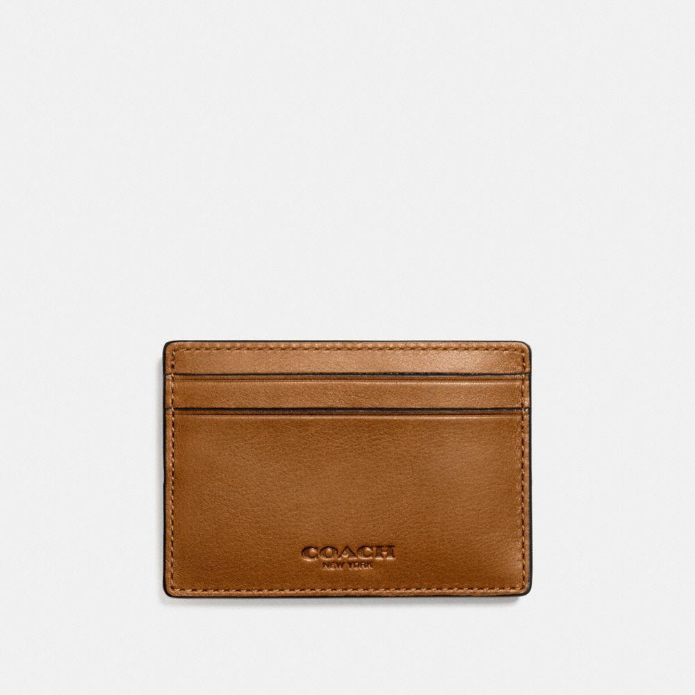 MONEY CLIP CARD CASE IN SPORT CALF LEATHER
