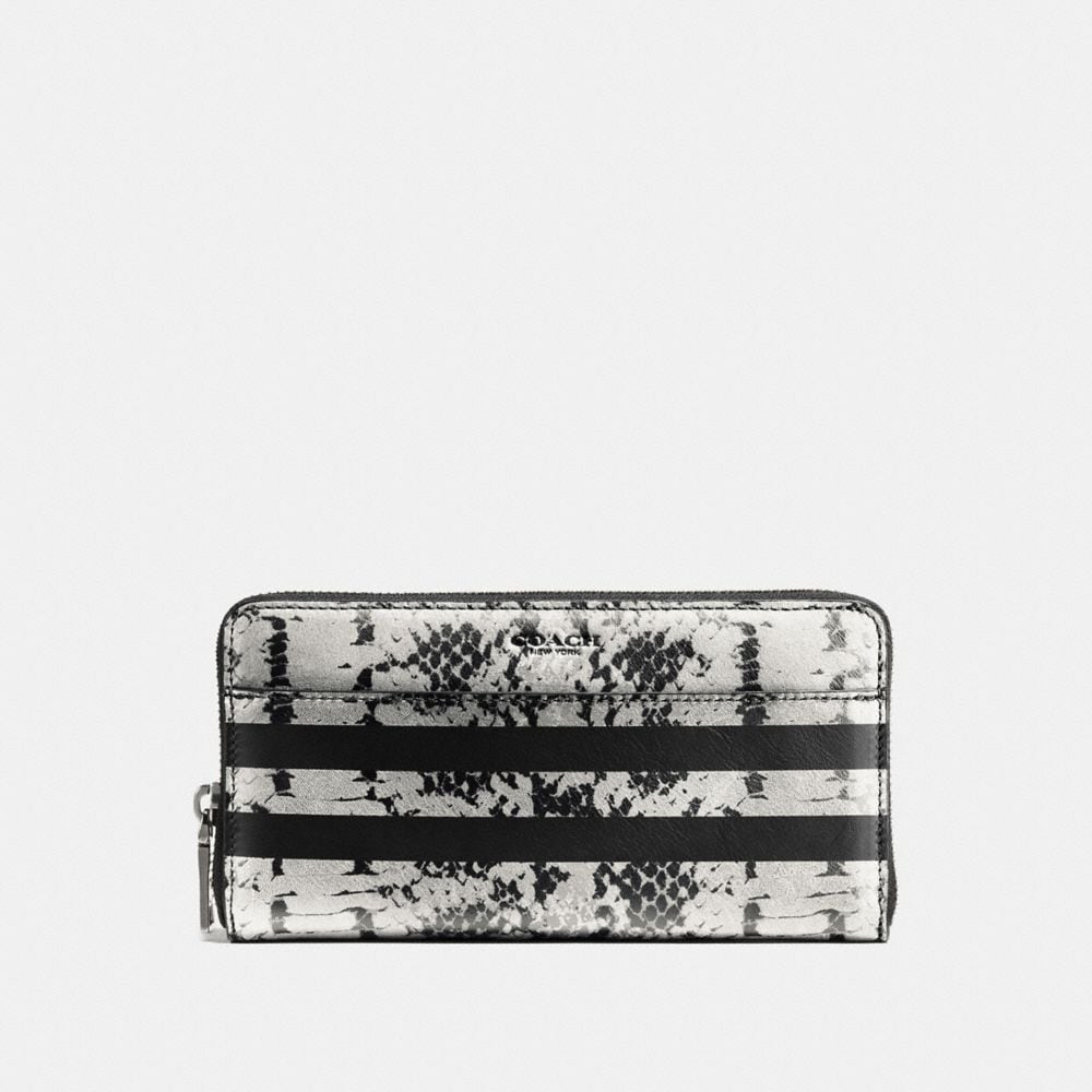 ACCORDION WALLET IN PYTHON STRIPE LEATHER
