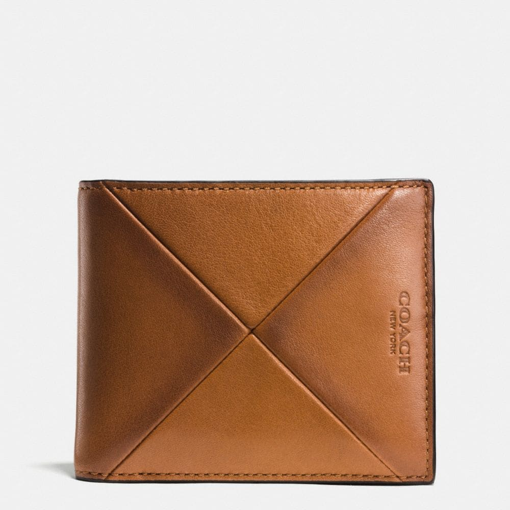 COMPACT ID WALLET IN PATCHWORK SPORT CALF LEATHER