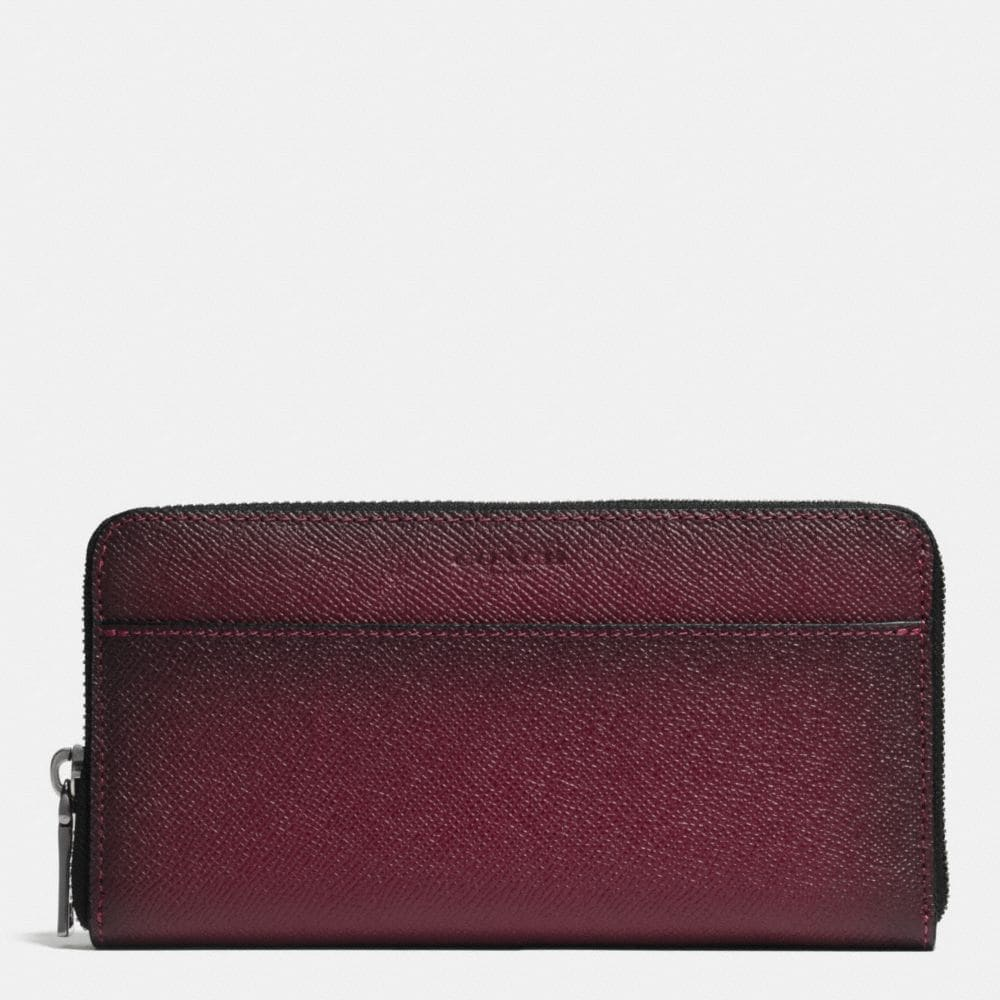 ACCORDION WALLET IN BURNISHED CROSSGRAIN LEATHER