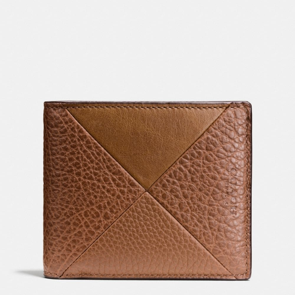 3-IN-1 WALLET IN PATCHWORK LEATHER