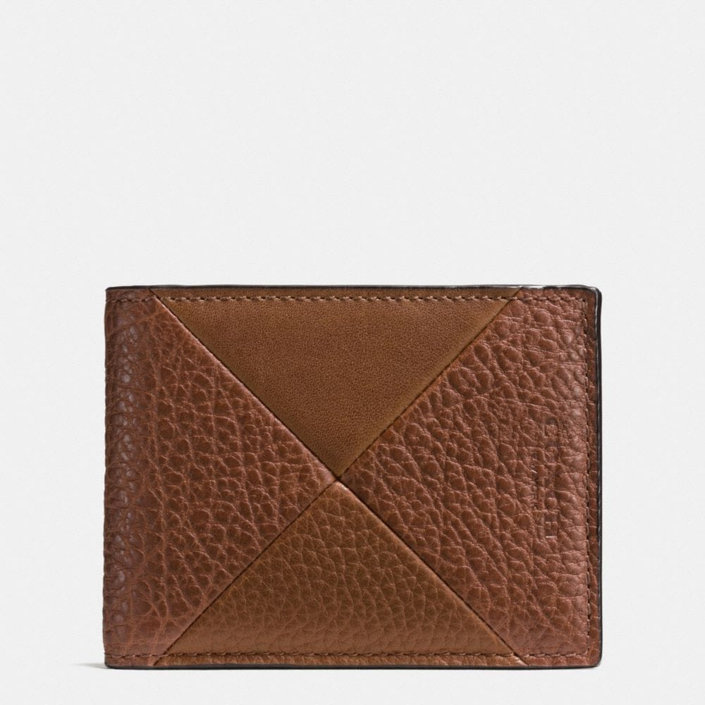 SLIM BILLFOLD WALLET IN PATCHWORK LEATHER