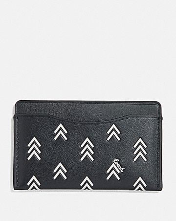 SMALL CARD CASE WITH LINE ARROW PRINT