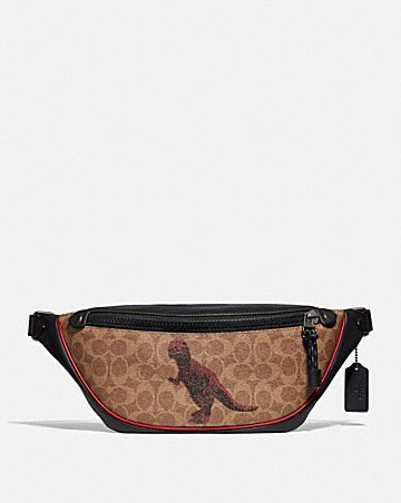 RIVINGTON BELT BAG IN SIGNATURE CANVAS WITH REXY BY SUI JIANGUO