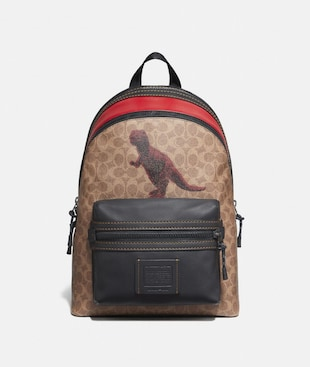 ACADEMY BACKPACK IN SIGNATURE CANVAS WITH REXY BY SUI JIANGUO