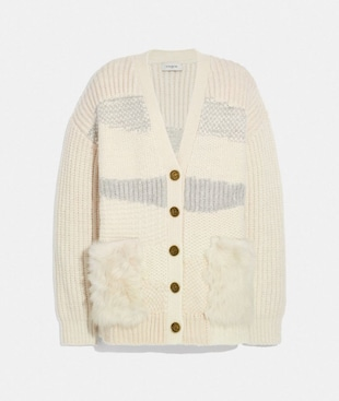 CARDIGAN WITH SHEARLING