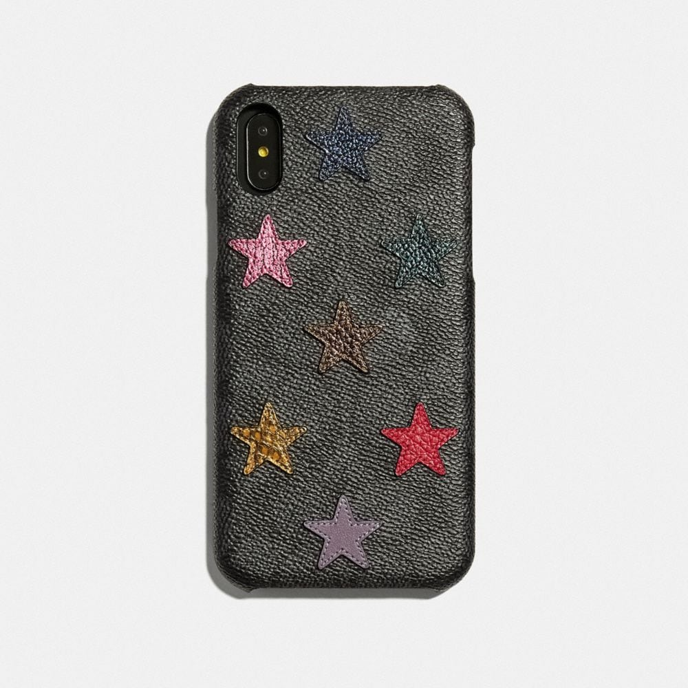 IPHONE XR CASE IN SIGNATURE CANVAS WITH STAR PRINT