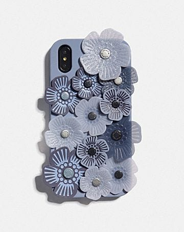 IPHONE XR CASE WITH TEA ROSE APPLIQUE