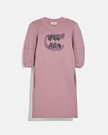 REXY BY GUANG YU SHORT SLEEVE SWEATSHIRT DRESS