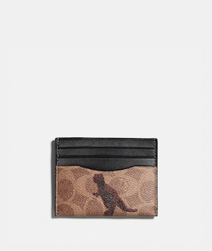 CARD CASE IN SIGNATURE CANVAS WITH REXY BY SUI JIANGUO