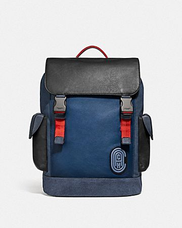 12b0bdbf537 RIVINGTON BACKPACK IN COLORBLOCK WITH COACH PATCH ...