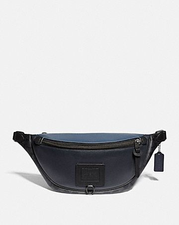 RIVINGTON BELT BAG WITH SIGNATURE CANVAS BLOCKING