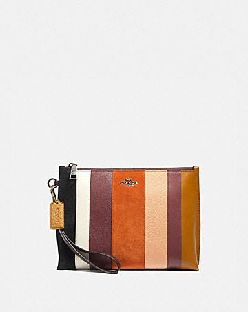 CHARLIE POUCH WITH PATCHWORK STRIPES