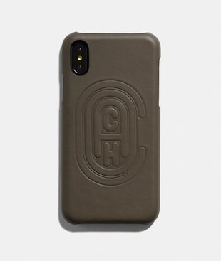 IPHONE X/XS CASE WITH COACH PATCH