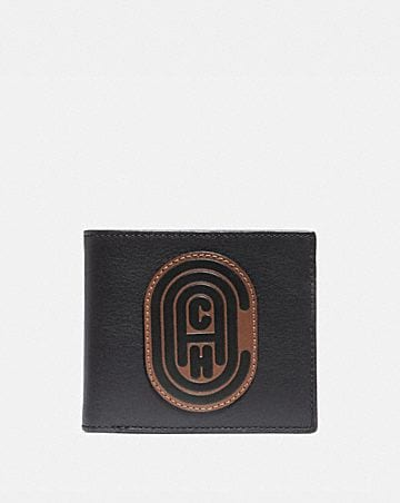 double billfold wallet with signature canvas.