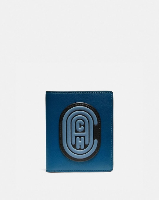 SLIM WALLET IN COLORBLOCK WITH COACH PATCH