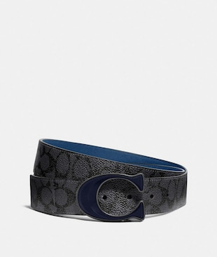 SIGNATURE BUCKLE CUT-TO-SIZE REVERSIBLE BELT, 38MM