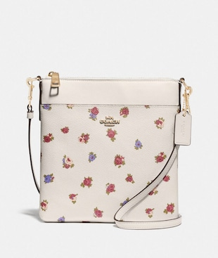KITT MESSENGER CROSSBODY WITH VINTAGE ROSEBUD PRINT