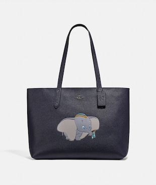 DISNEY X COACH CENTRAL TOTE WITH ZIP WITH DUMBO MOTIF