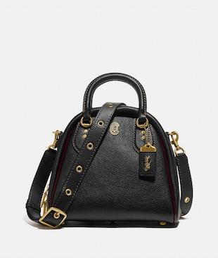 MARLEIGH SATCHEL WITH COACH PATCH