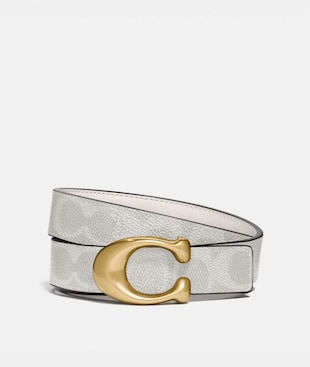 SIGNATURE BUCKLE REVERSIBLE BELT, 25MM
