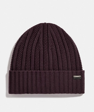 CASHMERE SEED STITCH KNIT HAT