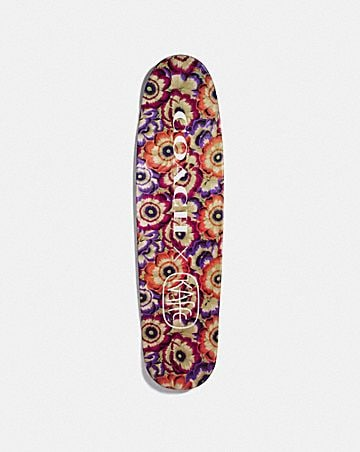 SKATEBOARD WITH KAFFE FASSETT PRINT