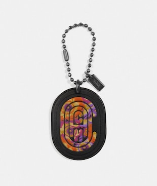 MEDALLION HANGTAG WITH KAFFE FASSETT PRINT