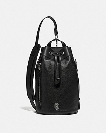 DRAWSTRING CROSSBODY WITH COACH PATCH