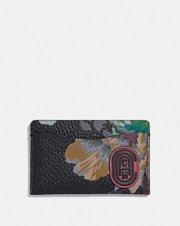 SMALL CARD CASE WITH KAFFE FASSETT PRINT