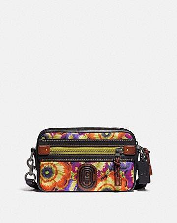 ACADEMY CROSSBODY WITH KAFFE FASSETT PRINT AND COACH PATCH