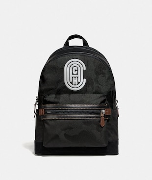 ACADEMY BACKPACK WITH WILD BEAST PRINT AND REFLECTIVE COACH PATCH