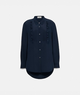 PLEATED BIB SHIRT