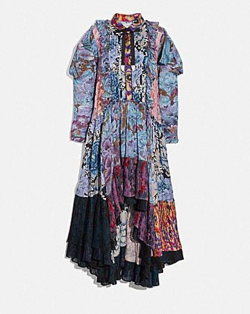 PATCHWORK DRESS WITH KAFFE FASSETT PRINT