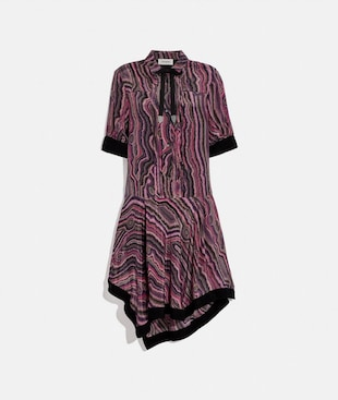 SHIRT DRESS WITH KAFFE FASSETT PRINT