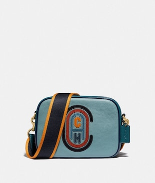 CAMERA BAG IN COLORBLOCK WITH COACH PATCH