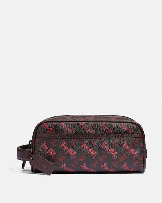 TRAVEL KIT WITH HORSE AND CARRIAGE PRINT