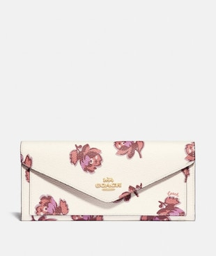 SOFT WALLET WITH FLORAL PRINT