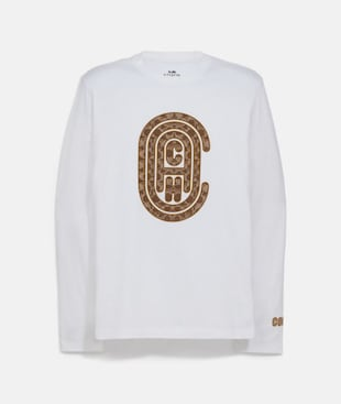 COACH GRAPHIC LONG SLEEVE T-SHIRT