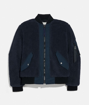 FLEECE MA-1 JACKET