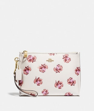 CHARLIE POUCH WITH FLORAL PRINT